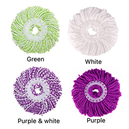 2 Pieces/ 4 Pieces Swivel Mop Head Cloth Mop Head Replacement Accessories for General Use