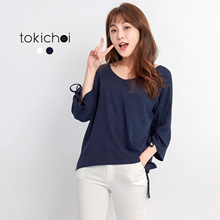 TOKICHOI - Oversized Lace Tie Top-170904