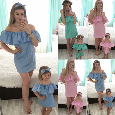 New Family Clothes Lady s Mother Daughter Matching Summer Baby Girl Dress Outfit