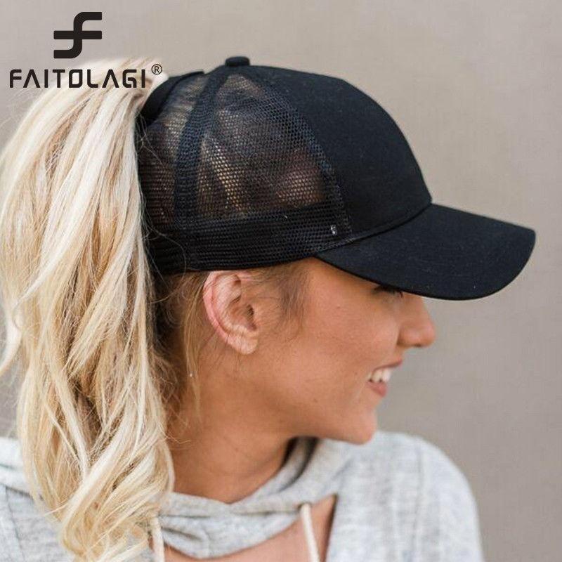 061227fda1 Qoo10 - 2018 Ponytail Baseball Cap Women Messy Bun Baseball Hat ...