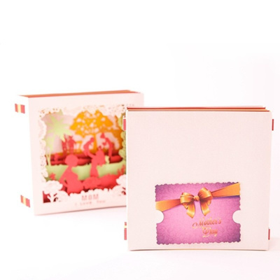 3D Pop Up I Love Mom Greeting Cards Birthday Christmas Mother/'s Day Gift