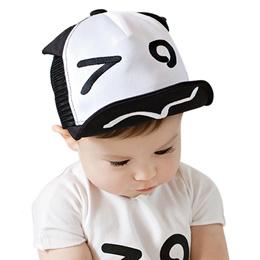5073632846079 Baby Hat for Kids Boy Girl Baseball Cap Eyes Ears Style Infant Children  Mesh Hats Adjustable