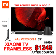 8% off Thur coupon❤super sales❤  Xiaomi TV Frameless 55 /65 inches  | V4 75 inches 1 year warranty