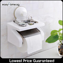 SQ1800 Toilet Roll Holder/ Tissue Paper Storage Rack/ Power Suction/ Reusable