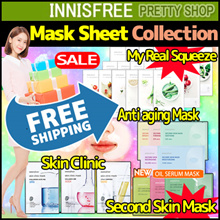 Free Shipping! ★Innisfree★[10sheets] My Real Squeeze Mask/anti-aging band