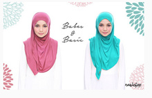 Babes and Basic*Naelofar Hijabs* Premium Cotton lycra* Instant* Nice Colors