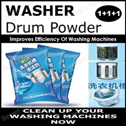 1+1+1 Promo Washer Drum Cleaner 5th Series/Washing Machine Cleaning/Improves Efficiency