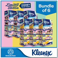 [BUNDLE of 6] Kleenex 3Ply Facial Tissues Limited Edition Disney Tsum Tsum Restocked