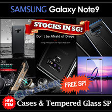 [Baseus]★NEW★[Stocks in SG]★FREE Screen Protector!★ Samsung Galaxy Note9 Case Curved Tempered Glass