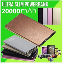 20000mah Ultra Thin Slim Dual USB Power Bank Batery For Samsung For S5 S4 Note3 Note2 iPhone 4/4s/5/