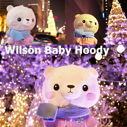 (TV Show Live Alone) Wilson Baby Hoody Cute Bear Character Doll