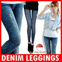 Denim Leggings Pants Jeans Fashion Etc CNY Sales Sexy Skinny Slim Tights for Woman Girls Cotton