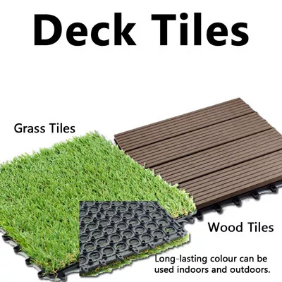 Diy Decking Wood Gr Composite Timber Interlocking Tiles No Fixings Required
