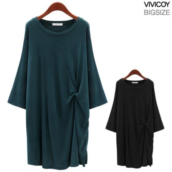 ビビ己斐ねじりワンピースNP 綿ワンピース/ 韓国ファッション