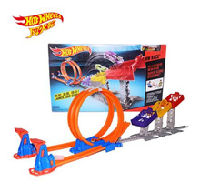 Mattel Hot Wheels Track Race Set Speed Limit Jump Race Lane DJC05 Double Race