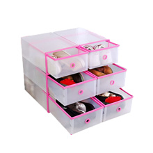 Plastic Shoes Drawer Storage Stackable Rack Box Sundries Organizer Case