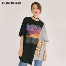 Women's Clothing Focal20 Streetwear Hit Color Plaid Women Blouse Shirt Spring Long Sleeve Stiching Color Hip Hop Oversize Female Blouse Top
