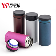 MasterCard 304 stainless steel flask schoolgirls cute line glasses mini thermos couples Cup 200ml