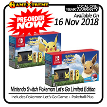 [Pre-Order] NEW! Nintendo Switch Console System Bundle with Pokemon Lets Go. 16th November Collection! Local Set with Warranty!