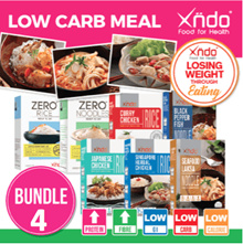 [Bundle of 4 meals ] Xndo Healthy LOW Carbs meal set