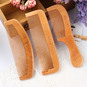 Natural Wide Tooth Peach Wood No-static Massage Hair Wood Comb