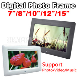 Digital Photo Frame 7Inch/8Inch/10Inch/15Inch/17Inch Support Photo Video Music Support Auto Play