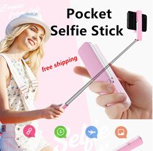 Lowest Price Multifunctional Pocket Selfie Stick Bluetooth Remote-Controlled Selfie Stick Phone Hold