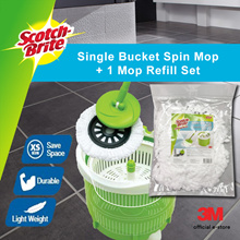 [Official E Store] 3M Scotch Brite™ Single Bucket Spin Mop + Refill