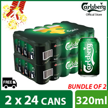 (82.88 with $6 Cart coupon) Bundle of 2 - Carlsberg Green Label Can 320ml ( 48 cans )