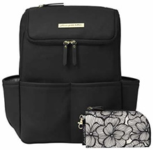 Petunia Pickle Bottom MEML-583-00 NEW! Method Backpack, Black Leatherette