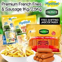 **Mydibel Premium French Fries 2.5kg dan Aneka Sausage  ( FREE ONGKIR JABODETABEK ONLY )