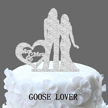 Personalized Heart Wedding Cake Topper Same Sex Wedding Two Brides Cake Stand Gift Lesbian Wedding D
