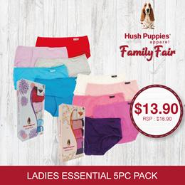 Hush Puppies 5pcs Ladies (Mini/Hipster/Midi) | Essential B/Essential A - #679179/806353/679175