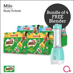 [NESTLE]  MILO® PENG AND NUTRI G [6x225] x4 + FREE MAYER BLENDER