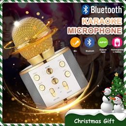 ⚡BIG PROMO⚡ Surround Sound ⚡Q7/Q9/WS-858 Wireless Bluetooth Karaoke Microphone USB KTV Speaker