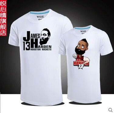 official photos c5500 890fd James Harden Harden jersey t-shirt compassionate mens basketball rocket big  yards loose cotton t-shi