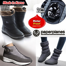 [Paperplanes] 2019 NEW ARRIVALS /  Made in Korea / Womens Warm Suede Winter Fur Snow Boots