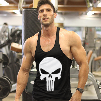 4a211d6e128c3 The Punisher Vintage Bodybuilding Stringer Tank Top Men Gym Singlet Fitness  Sleeveless Workout Vest Cotton Sport