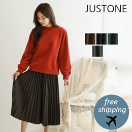 [JUSTONE❤] Noing wool pleated skirt / Free Shipping / Korean Fashion