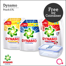 [PnG] [Free Joy Glass Container] Dynamo Power Gel Liquid Detergent Pouch / 2.4kg / 2.7kg / Wash