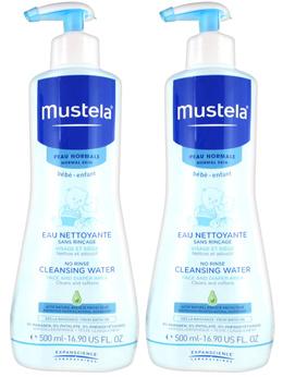 Mustela No-Rinse Cleansing Water 2 x 500ml