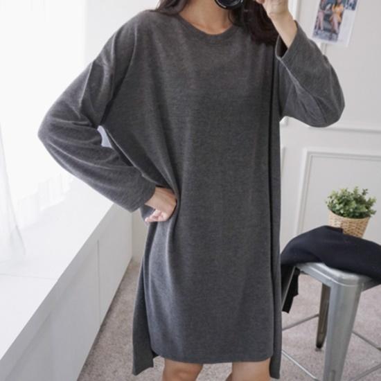 ピンクシスレーフリッグベーシックワンピース 綿ワンピース/ 韓国ファッション