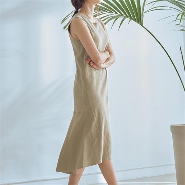 ラウンドシンプルロングワンピースJ91POP107new ロング/マキシワンピース/ワンピース/韓国ファッション