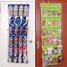 New 24 Pockets Over Door Hanging Bag Shoe Rack Hanger Storage Tidy Organizer