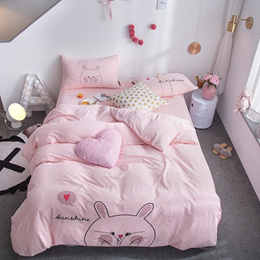sale Lovely Totoro Bedding Set Pink Bed Set Queen King Size Bed Sheet Luxury Duvet Cover Set Bed Lin