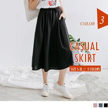 OBDESIGN ★ I.MODA PLUS ★ OB DESIGN  ORANGEBEAR ★ TIG ★ CASUAL MIDI SKIRTS ★ 3 COLORS ★
