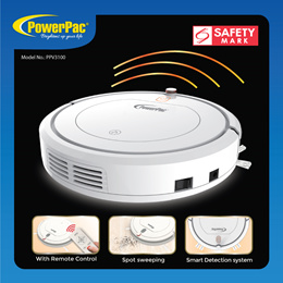 PowerPac Smart Robotic Vacuum Cleaner with Remote control and Spot sweeping function(PPV3100)