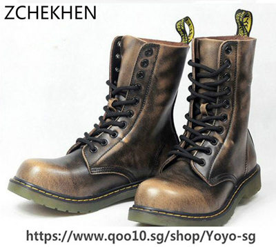 retro best shoes wholesale online Vintage Military Combat Boots Men High top Boots Genuine leather Shoes Men  Motorcycle Boots Riding M