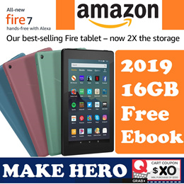 Amazon 9th generation All-New Fire 7 Tablet 7inch Display 16GB Black WIFI version-with Special Offer
