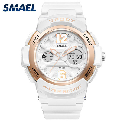 f830e6a5551 SMAEL Ladies Watch Women Gold Rose Digital Sport Waterproof Watches Top  Brand Luxury Baby Fashion G